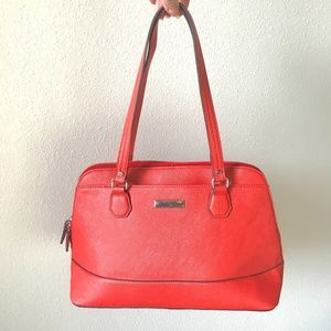 Kenneth Cole coral satchel